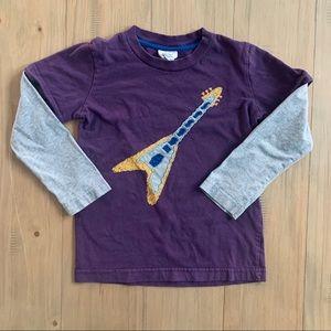 Mini Boden | Purple Electric Guitar Appliqué Top